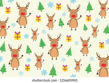 Deer Christmas Pattern