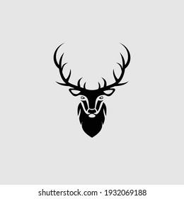 deer design logo vector illustrator
