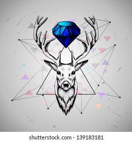 deer with diamond