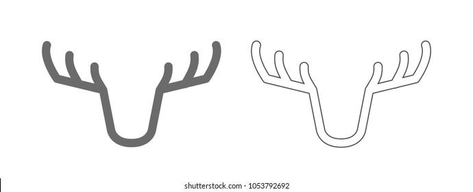 deer emblem outline icon