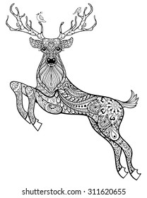 deer hand drawn christmas magic 260nw
