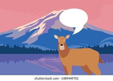 Deer Landscape Forest Fall Stock Vectors Images Vector Art Shutterstock