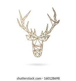 Deer head abstract isolated on a white backgrounds, vector illustration