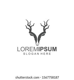 deer head abstract logo icon