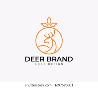 Deer head Brand Logo design