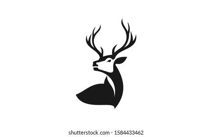 Deer head creative design logo vector. Deer illustration