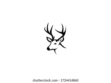 deer head design vector template