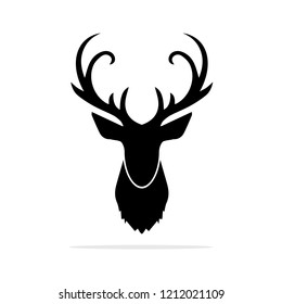Deer Head icon. Vector concept illustration for design.