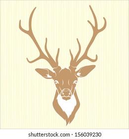 Deer head isolated