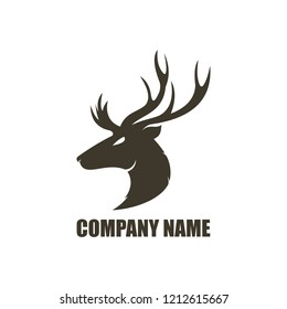 deer head logo amazing design for your company or brand