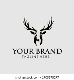 deer head logo, with an attractive design, simple and elegant is perfect for your business. Using Illustration EPS 10