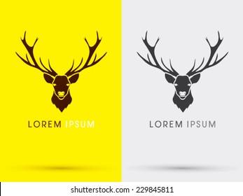 Deer head logo, vector.