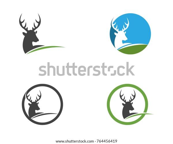 Deer Head Silhouette Logo Design Template Stock Vector (Royalty Free