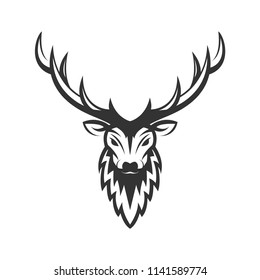 deer head silhouette vector design