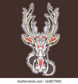 Moose Tattoo Images, Stock Photos & Vectors | Shutterstock
