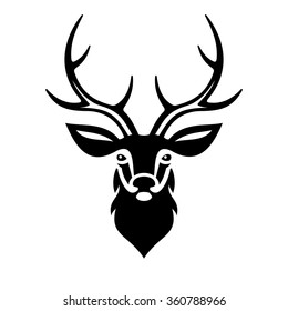 deer head silhouette images stock photos vectors shutterstock rh shutterstock com deer head clip art silhouette deer head clip art png