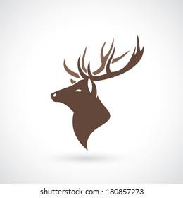 Deer head - vector illustration
