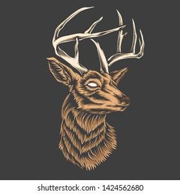 deer head vector and logo