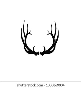 Deer Horn Symbol. Vector Illustration
