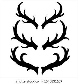 Deer Horn Vector. EPS Format