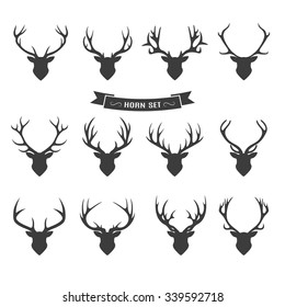Deer horns label set
