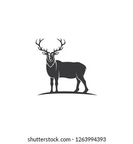 Deer Hunt Logo template, Elegant Deer Head logo designs vector - Vector