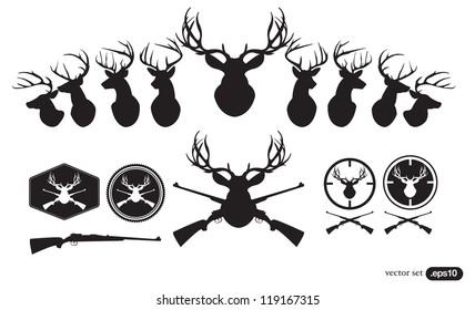 Deer Hunter Heads set