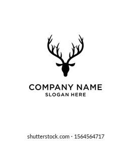deer hunter logo type, template, and vector