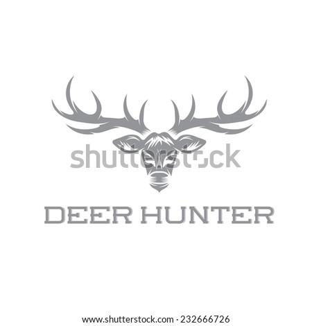 deer hunter vector design template stock vector royalty free