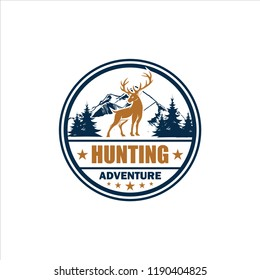 deer hunting club logo design