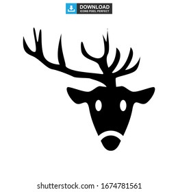 deer icon or logo isolated sign symbol vector illustration - high quality black style vector icons