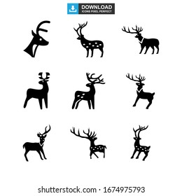 deer icon or logo isolated sign symbol vector illustration - Collection of high quality black style vector icons