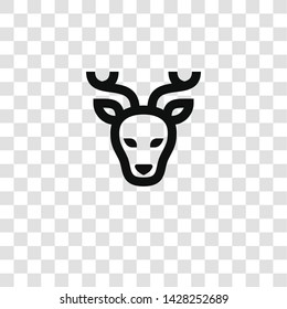 deer icon from miscellaneous collection for mobile concept and web apps icon. Transparent outline, thin line deer icon for website design and mobile, app development