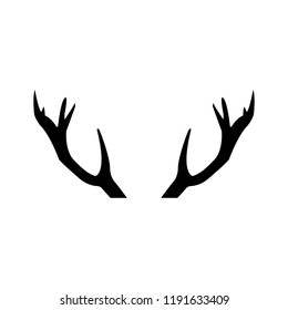 Deer icon, silhouette, logo on white background