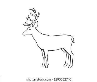 Deer Icon. - Vector