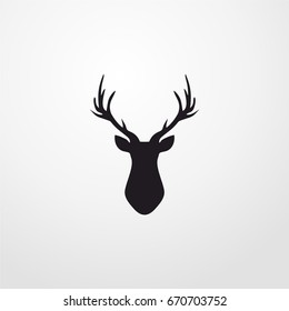 deer icon. vector sign symbol on white background