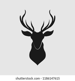 deer illustration vector icon