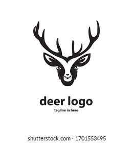 The deer logo design concept is simple, easy to remember, suitable for technology companies, agriculture, animal husbandry and the environment