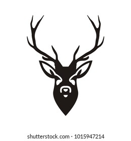 Deer logo design illustration