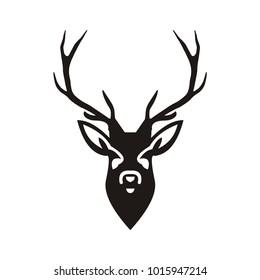 Deer logo design illustration