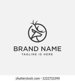 deer logo design inspiration. deer icon. deer head
