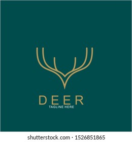 Deer logo design with modern concept. Icon deer design. vector illustration