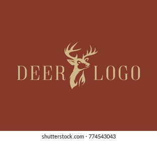 deer logo design vector