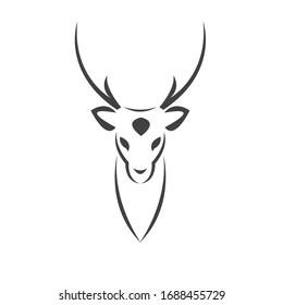 Deer logo design vector illustration. on white background. symbol. icon. Wild Animals
