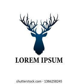 deer logo icon for hunter team or adventure