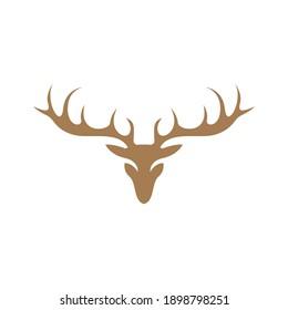 Deer logo icon illustration design vector template