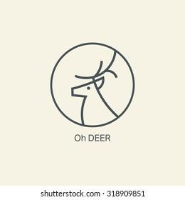 deer logo. icon. vector. badge