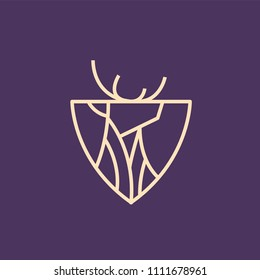 Deer logo with shield