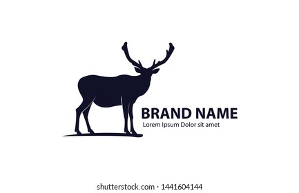 Deer Logo Template with Minimalist Design
