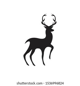 Deer Logo Template vector icon illustration design